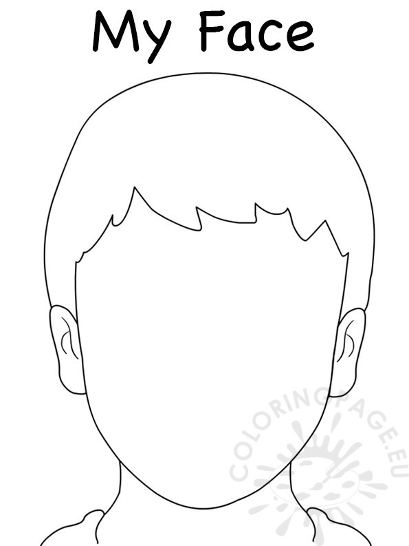 Free Coloring Sheets Of A Blank Face For Kids  Face Blank Boy Template