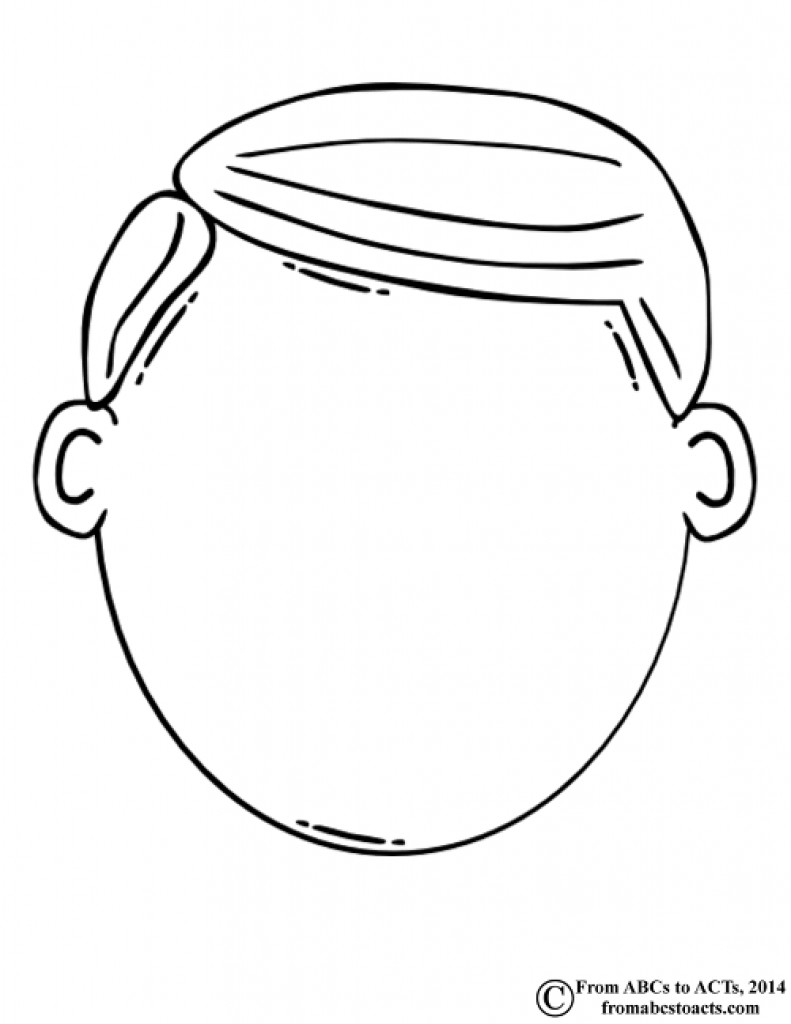 Free Coloring Sheets Of A Blank Face For Kids  Blank Face Coloring Page Coloring Home
