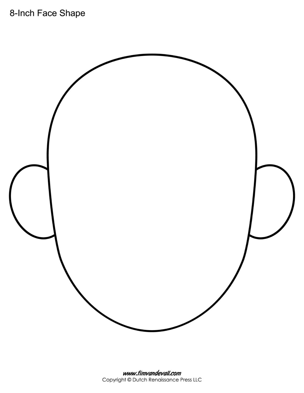 Free Coloring Sheets Of A Blank Face For Kids  Blank Face Templates