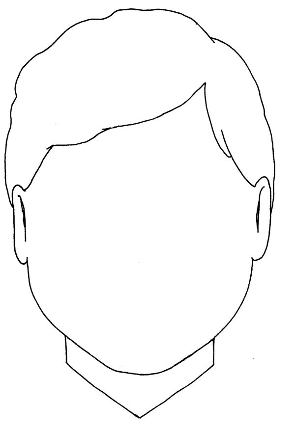Free Coloring Sheets Of A Blank Face For Kids  Face Coloring Page 9851 Coloring Page A Face In