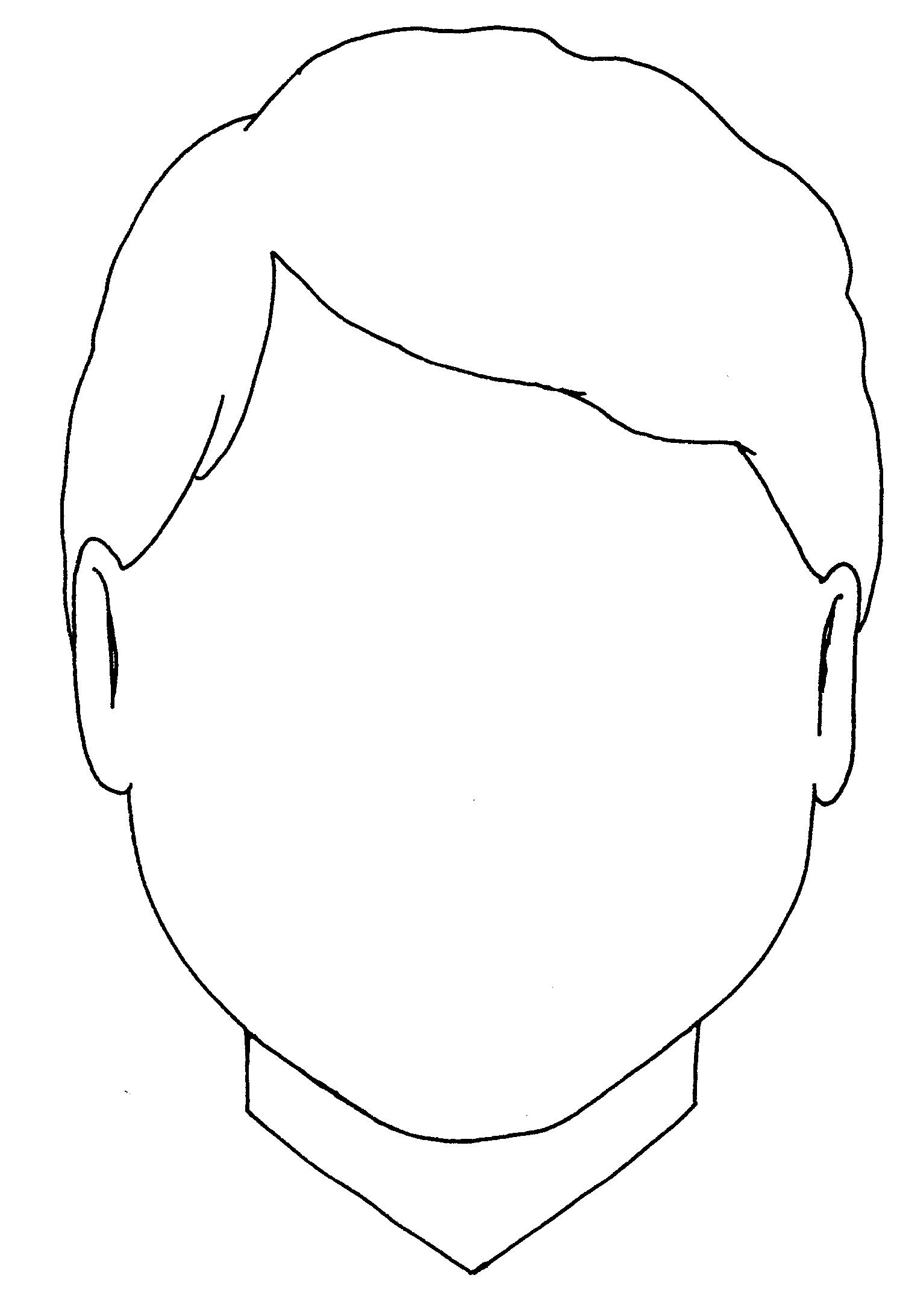 Free Coloring Sheets Of A Blank Face For Kids  Blank Boy Face Colouring Coloring Pages Quoteko