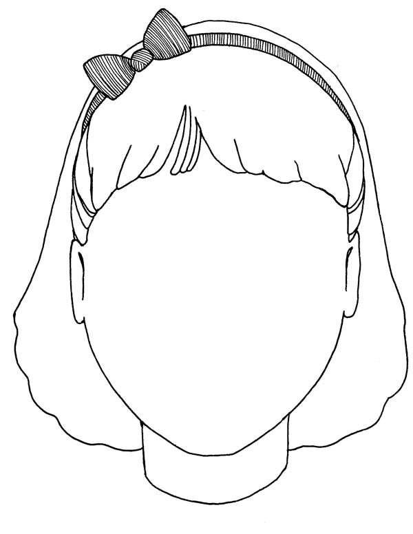 Free Coloring Sheets Of A Blank Face For Kids  Blank Coloring Pages Bestofcoloring