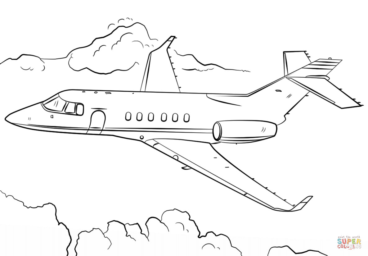 Free Coloring Sheets Of Airplanes  Jet Airplane coloring page