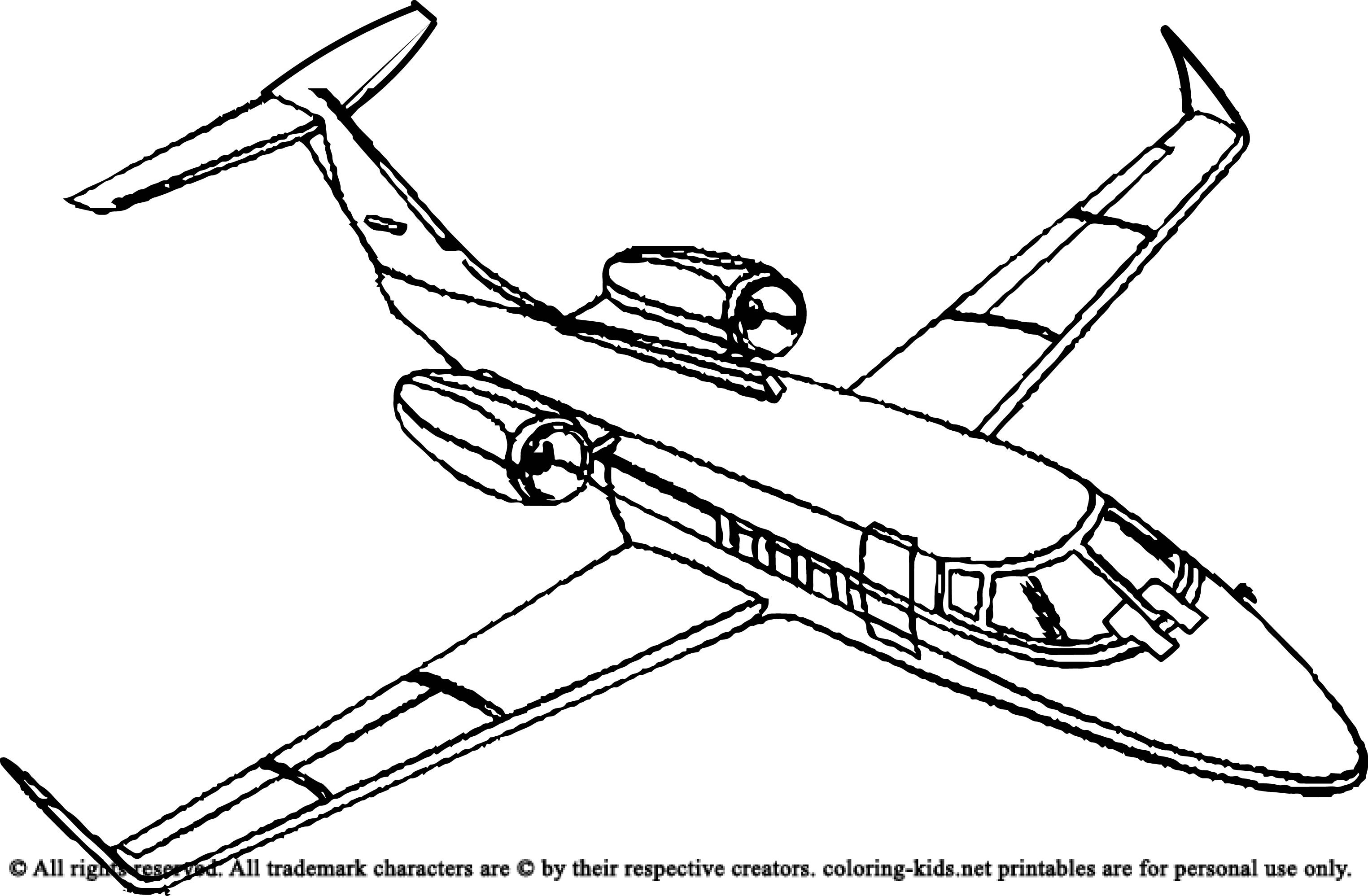 Free Coloring Sheets Of Airplanes  Top Airplane To Color Colouring Pages