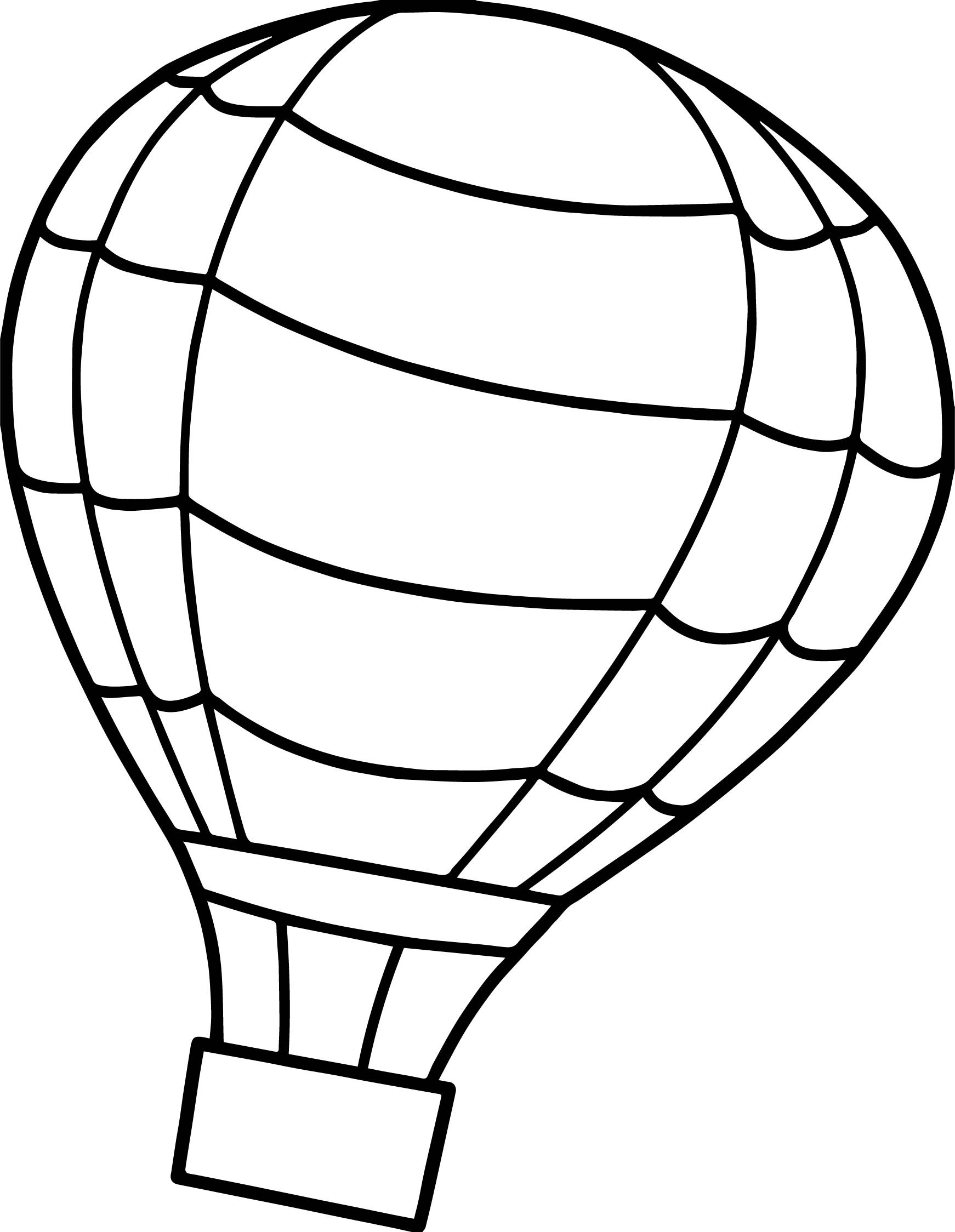 Free Coloring Sheets Of Balloons  Flip Air Balloon Coloring Page