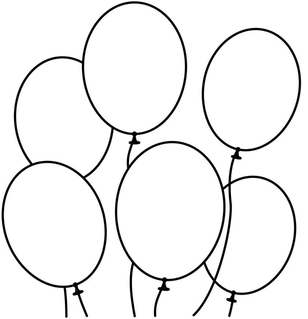 Free Coloring Sheets Of Balloons  Balloon Coloring Pages coloringsuite