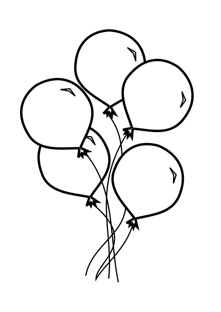 Free Coloring Sheets Of Balloons  Balloons Free Colouring Pages