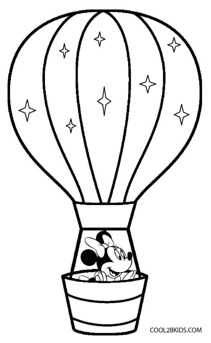 Free Coloring Sheets Of Balloons  Printable Hot Air Balloon Coloring Pages For Kids