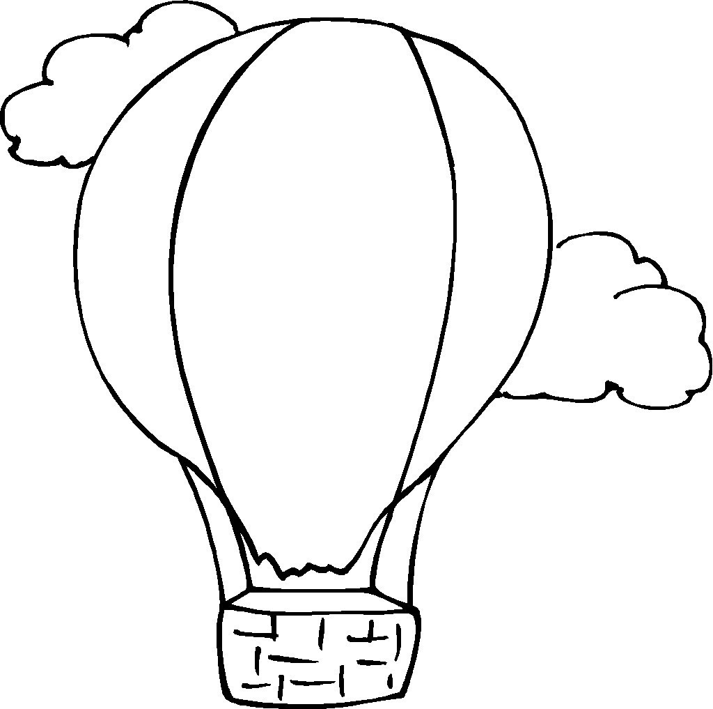 Free Coloring Sheets Of Balloons  Free Printable Hot Air Balloon Coloring Pages For Kids