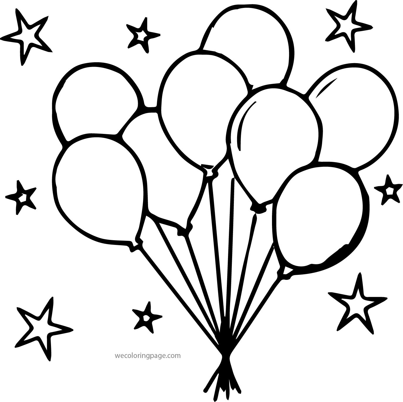 Free Coloring Sheets Of Balloons  Party Balloons Coloring Pages