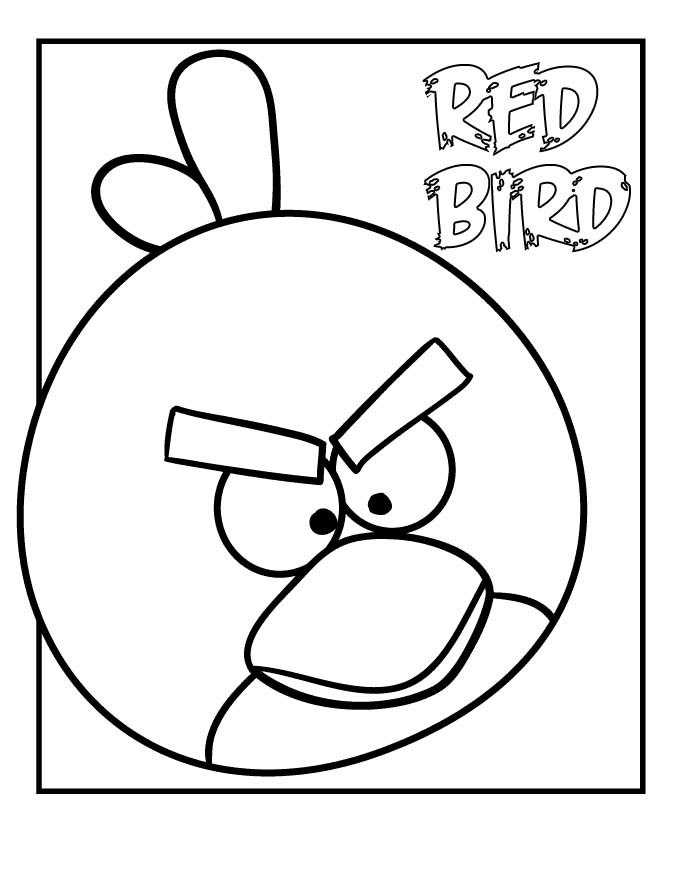 Free Coloring Sheets Of Birds  Free Printable Angry Bird Coloring Pages For Kids