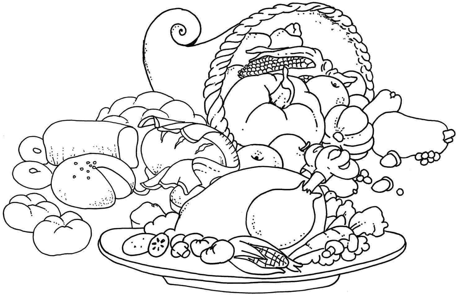 Free Coloring Sheets Of Food  Latest Food Hamburger Models Coloring Pages For Kids