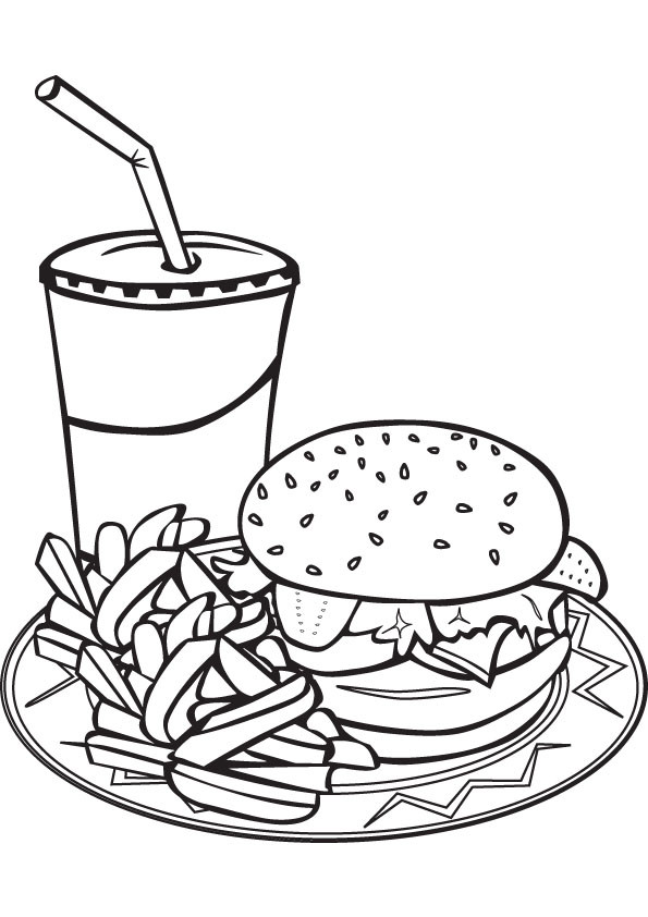 Free Coloring Sheets Of Food  Clip Art Food Coloring Page Image Clipart grig3