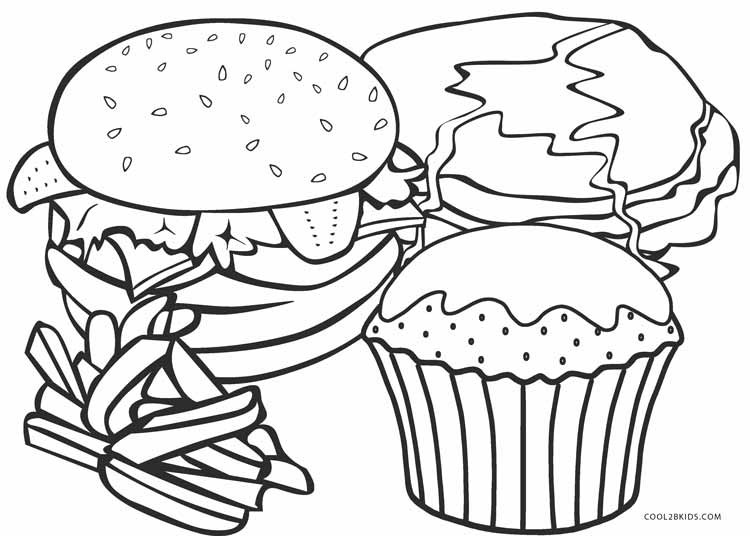 Free Coloring Sheets Of Food  Free Printable Food Coloring Pages For Kids