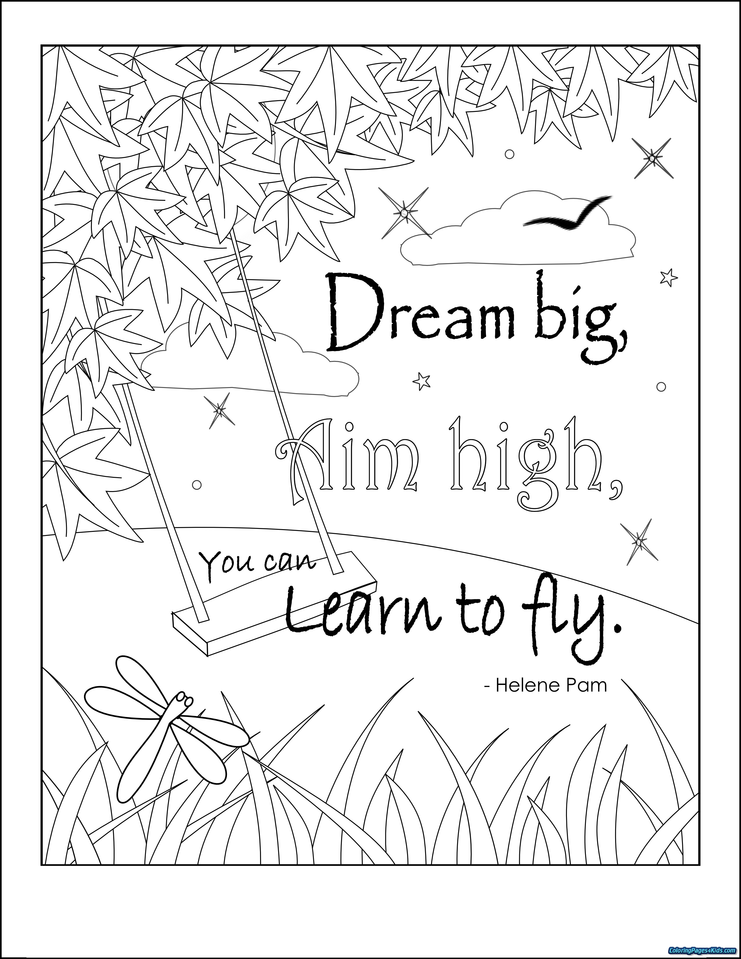 Best ideas about Free Coloring Sheets On Gratutude . Save or Pin inspirational quotes coloring pages Now.