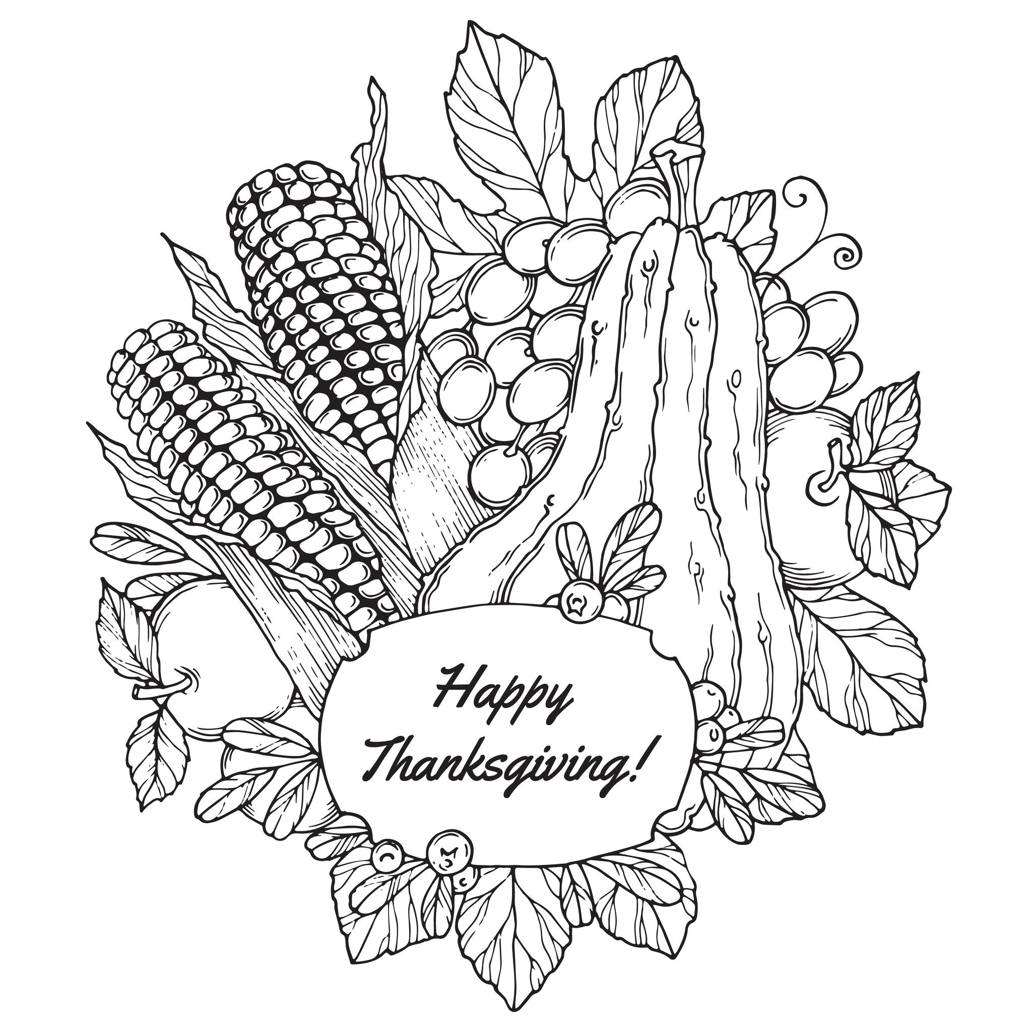 Best ideas about Free Coloring Sheets On Gratutude . Save or Pin Thanksgiving Coloring Pages For Adults to and Now.