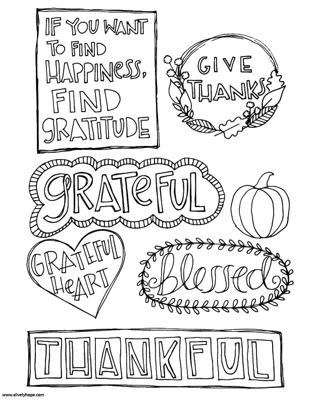 Best ideas about Free Coloring Sheets On Gratutude . Save or Pin A Lively Hope Gratitude Journal Inserts Now.