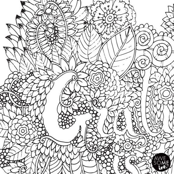 Best ideas about Free Coloring Sheets On Gratutude . Save or Pin Gratitude is the Vitamin for the Soul Adult Coloring In Now.