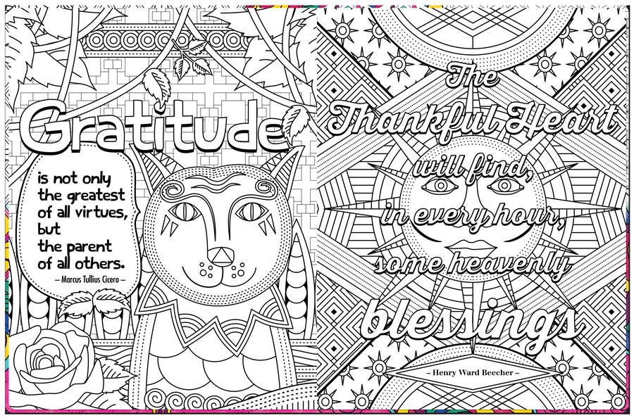 Best ideas about Free Coloring Sheets On Gratutude . Save or Pin Gratitude Coloring Book Now.