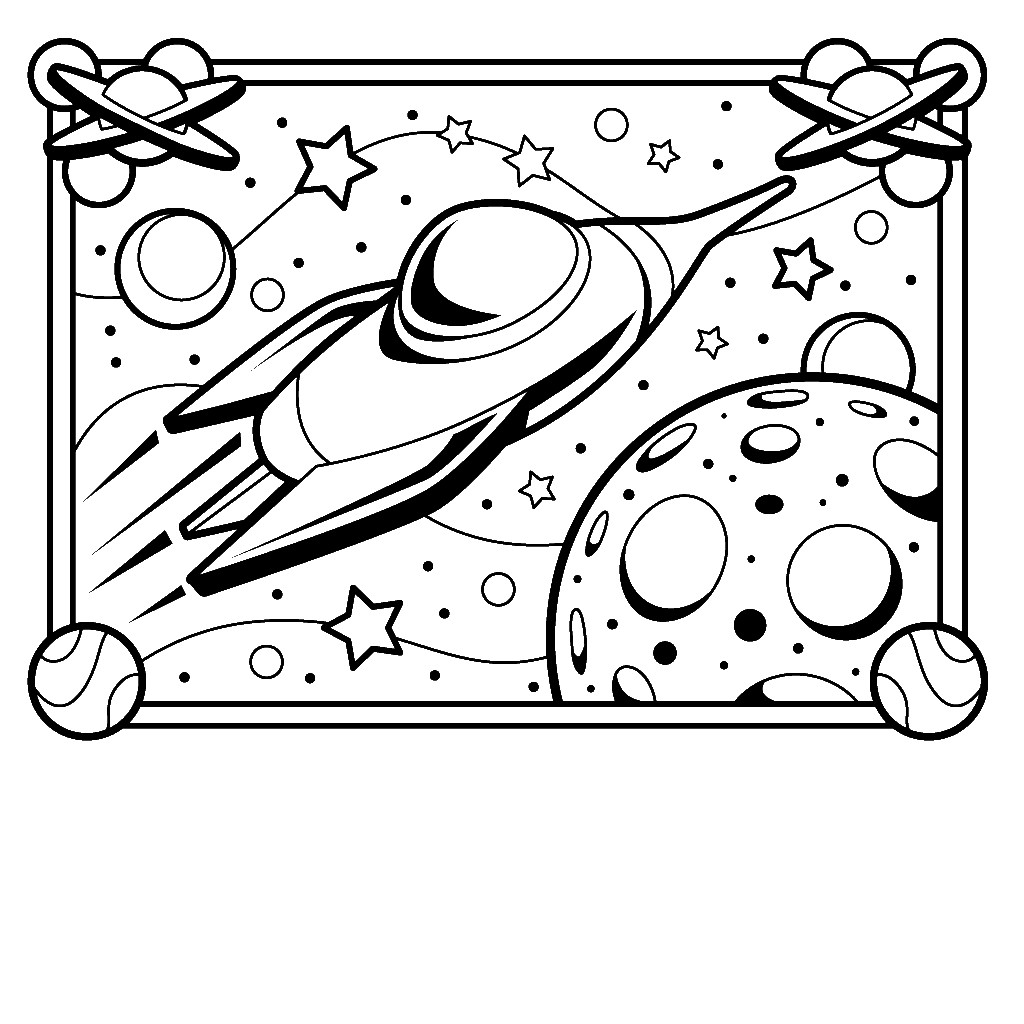 Free Coloring Sheets Space Ship  Free Printable Spaceship Coloring Pages For Kids