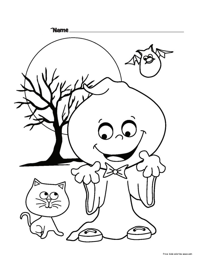 Free Coloring Sheets To Print  halloween ghost printable coloring pages for kidsFree