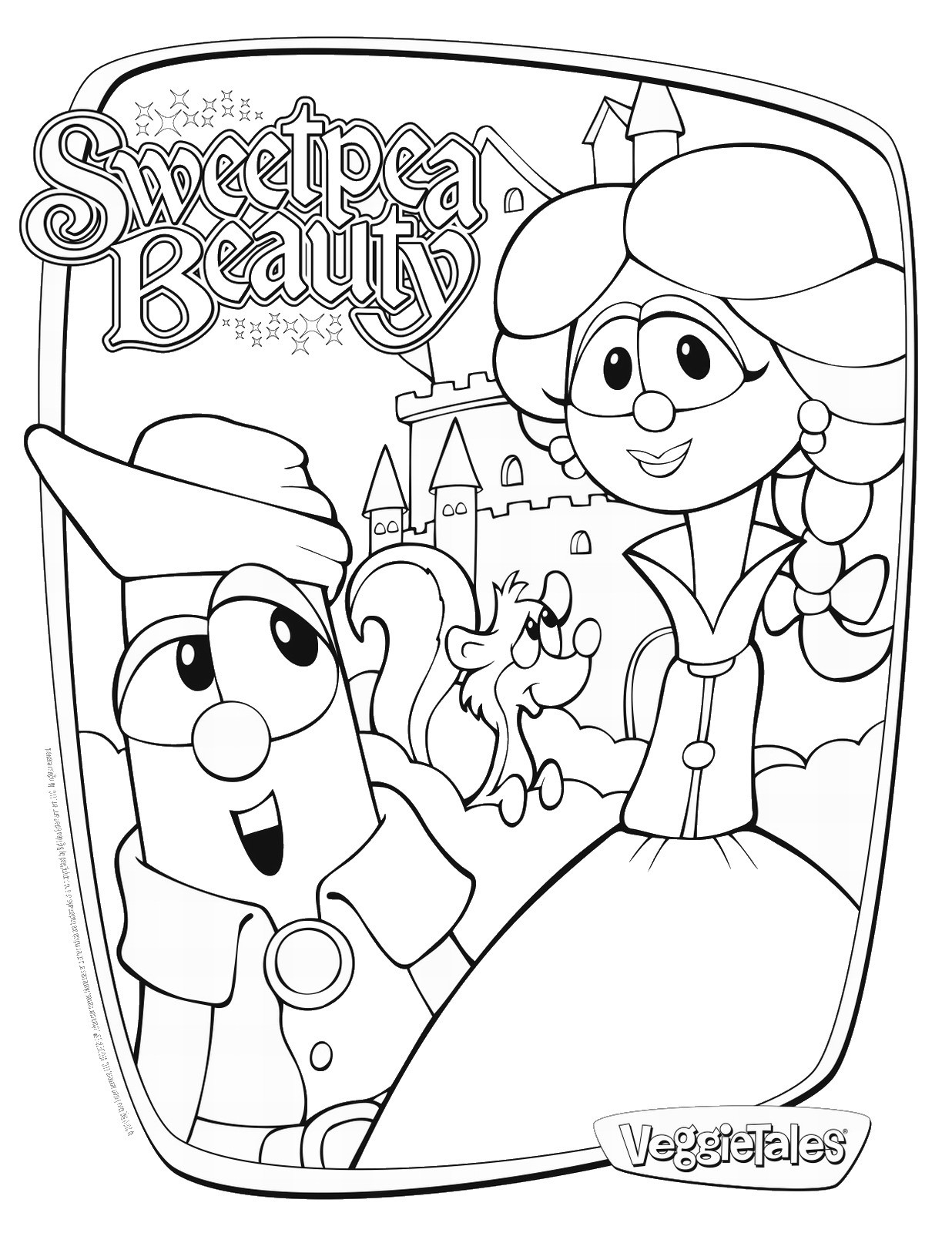 Free Coloring Sheets To Print  Veggie Tales Coloring Pages