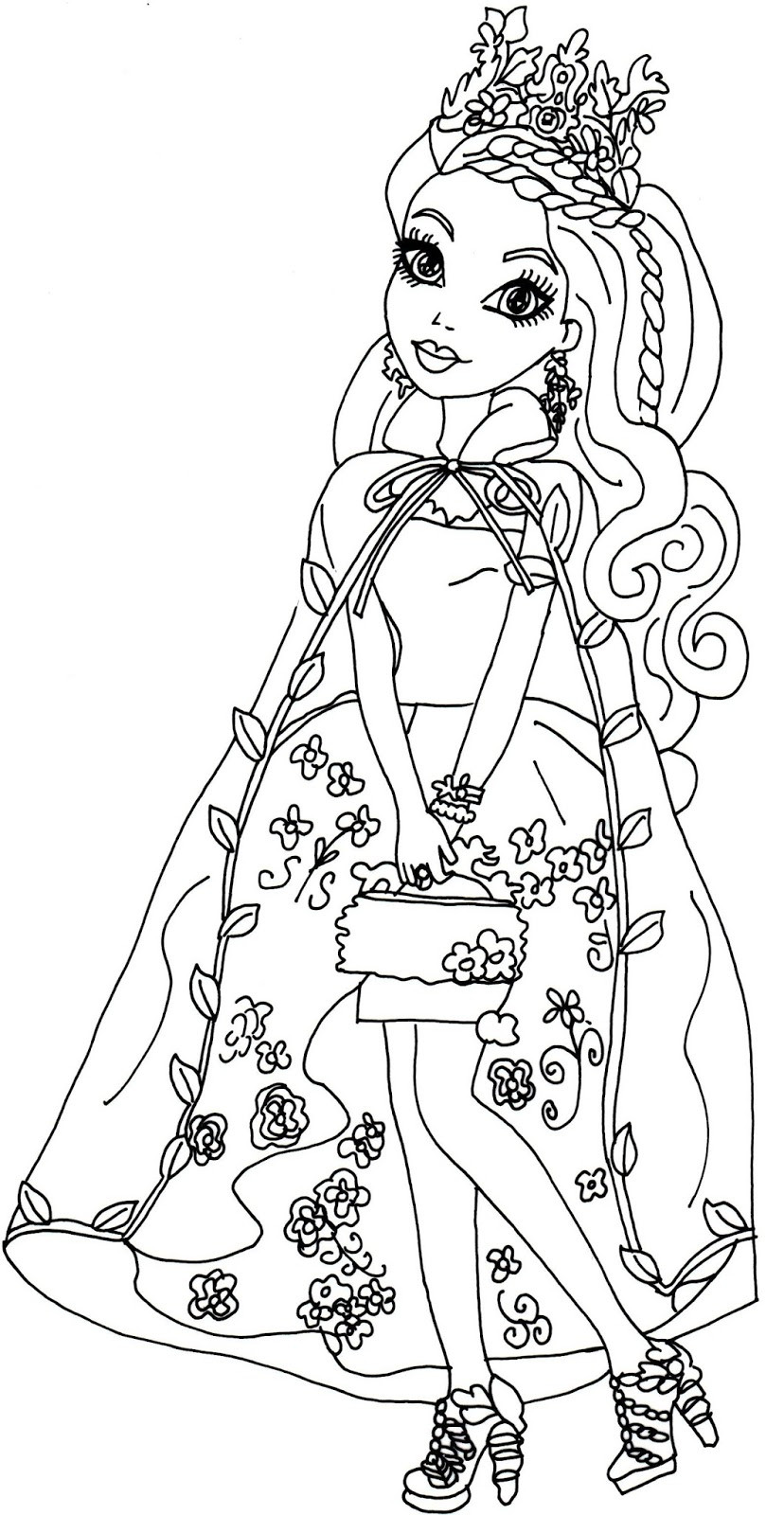 Free Coloring Sheets To Print  Ever After High Coloring Pages Best Coloring Pages For Kids
