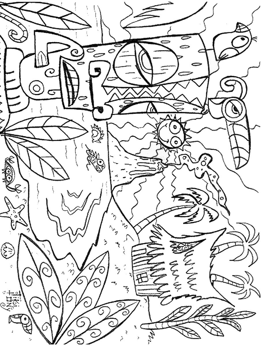 Free Coloring Sheets To Print  Luau Coloring Pages