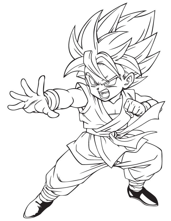 Free Dragon Ball Z Coloring Pages For Kids  Free dragon ball z coloring pages for kids ColoringStar
