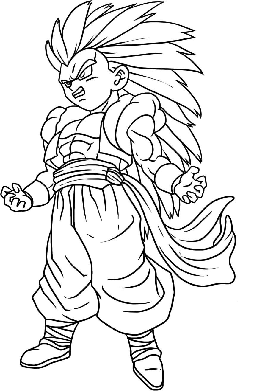 Free Dragon Ball Z Coloring Pages For Kids  Free Printable Dragon Ball Z Coloring Pages For Kids