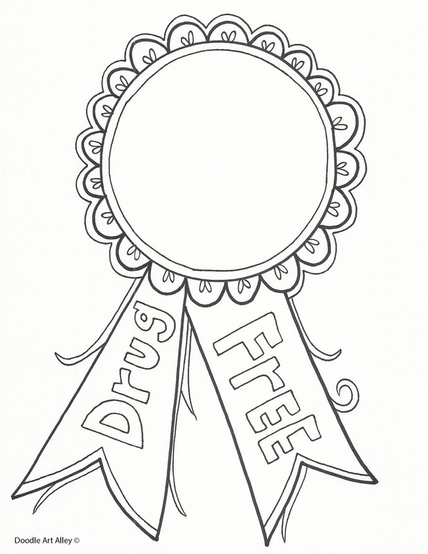 Best ideas about Free Drug Free Coloring Sheets . Save or Pin Red Ribbon Week Coloring Pages and Printables Classroom Now.