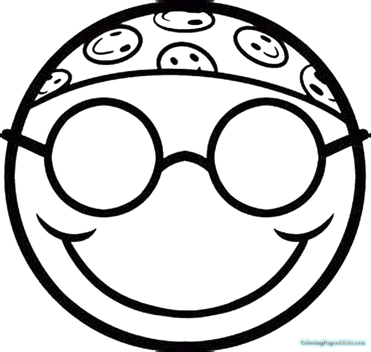 Free Emoji Coloring Pages  Coloring Pages Sun Glasses Emoji