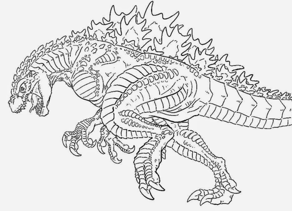 Free Godzilla Coloring Pages For Kids  Godzilla Coloring Sheets