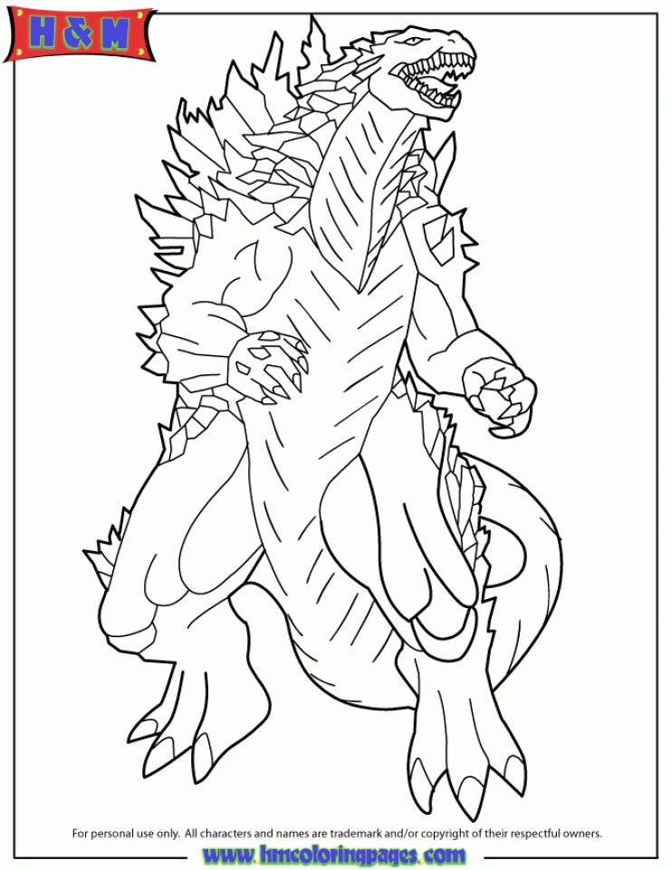 Free Godzilla Coloring Pages For Kids  Get This line Godzilla Coloring Pages for Kids 8QgDr