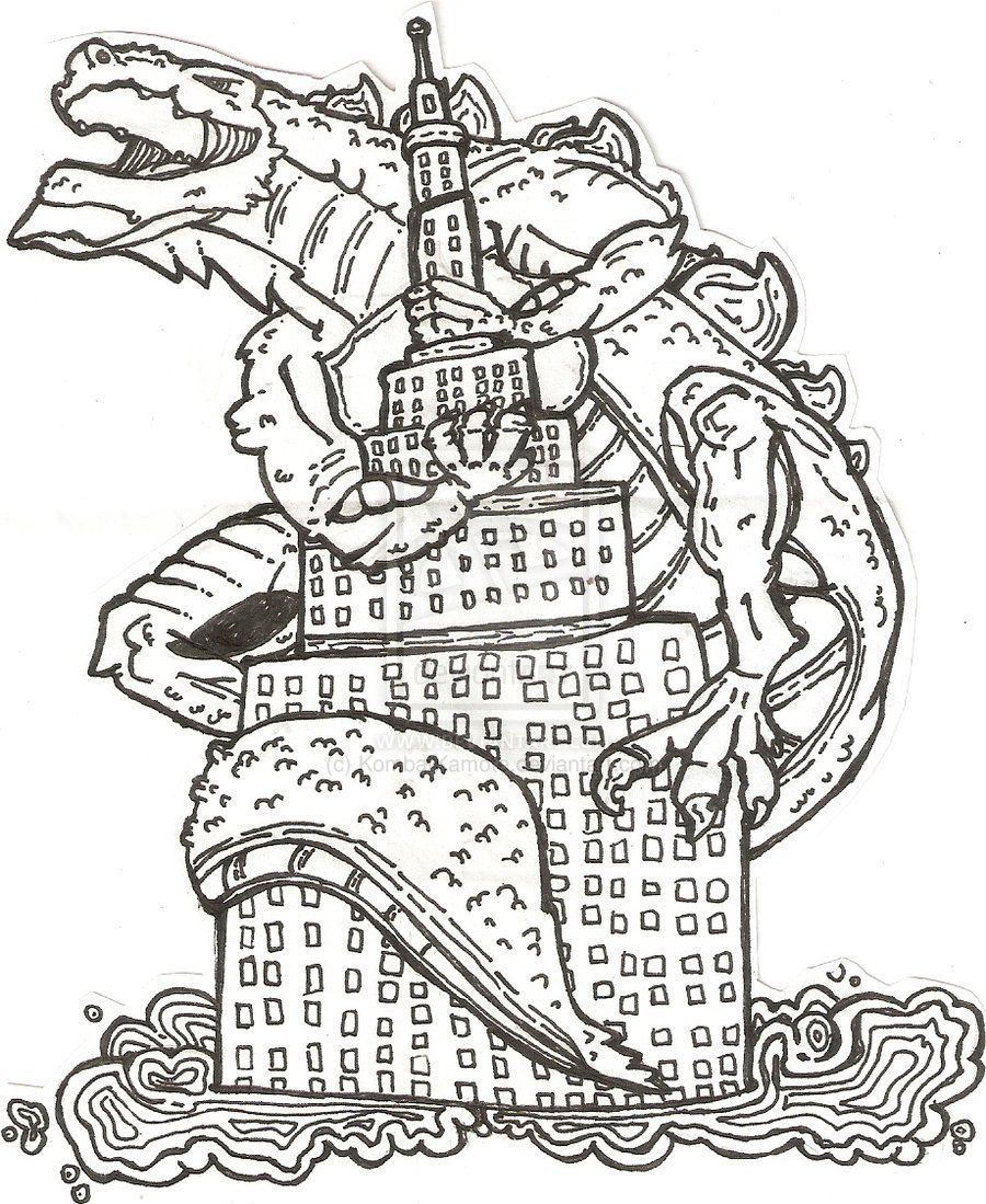 Free Godzilla Coloring Pages For Kids  Free Godzilla Coloring Pages Coloring Home