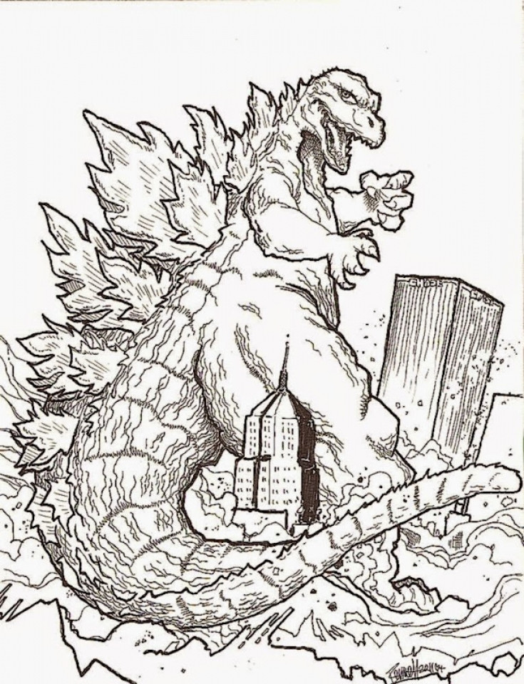 Free Godzilla Coloring Pages For Kids  Get This Kids Printable Paw Patrol Coloring Pages Chase