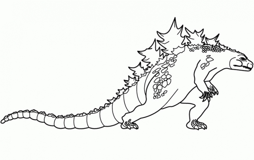 Free Godzilla Coloring Pages For Kids  Get This Easy Printable Godzilla Coloring Pages for