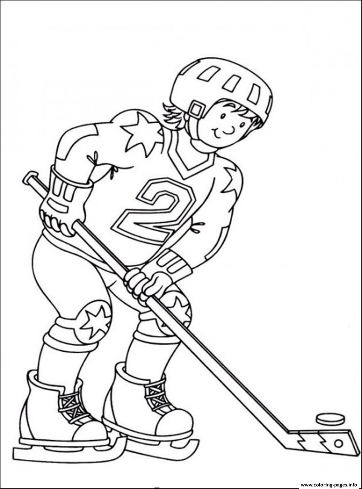 Free Hockey Coloring Pages For Kids  Hockey Sedbd Coloring Pages Printable