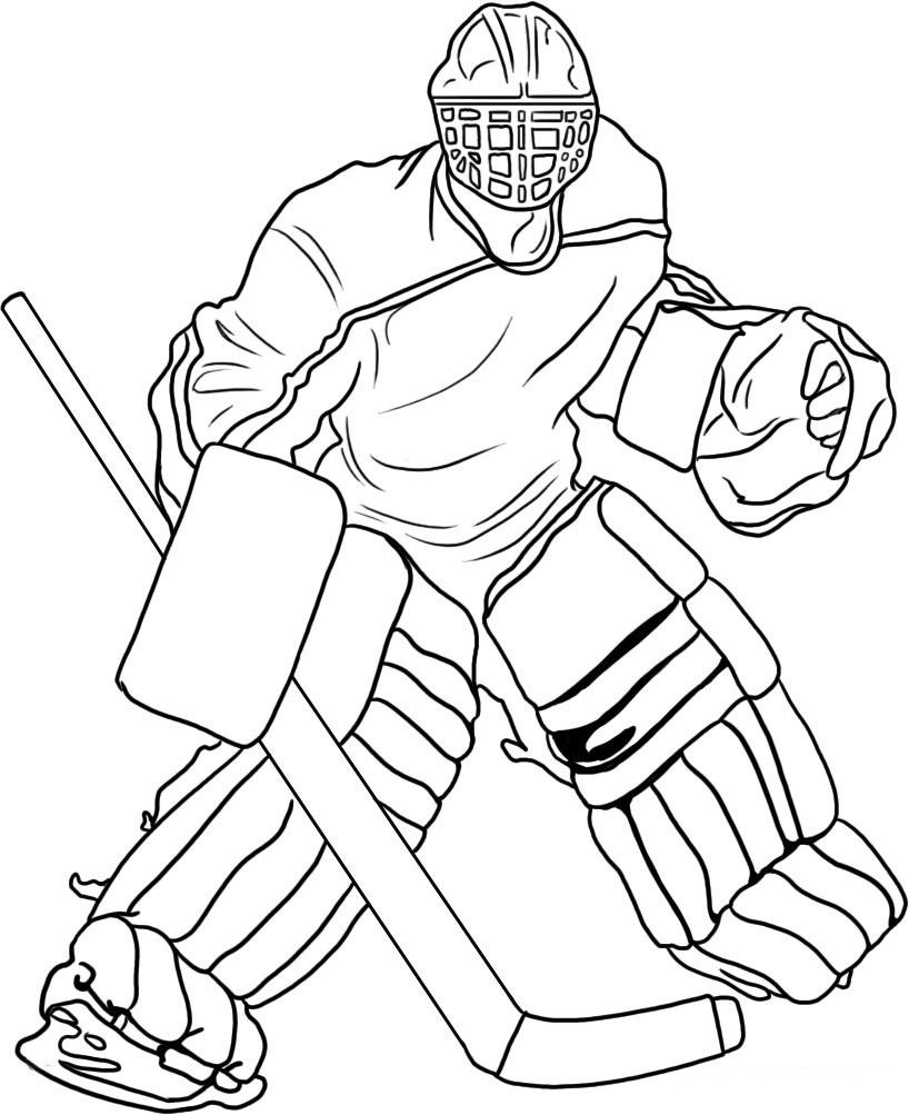 Free Hockey Coloring Pages For Kids  Free Printable Hockey Coloring Pages For Kids