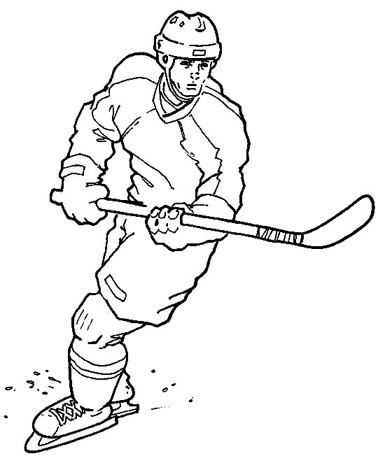 Free Hockey Coloring Pages For Kids  Sports Coloring For Kids