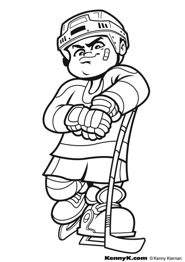 Free Hockey Coloring Pages For Kids  Hockey Color Pages Coloring Home