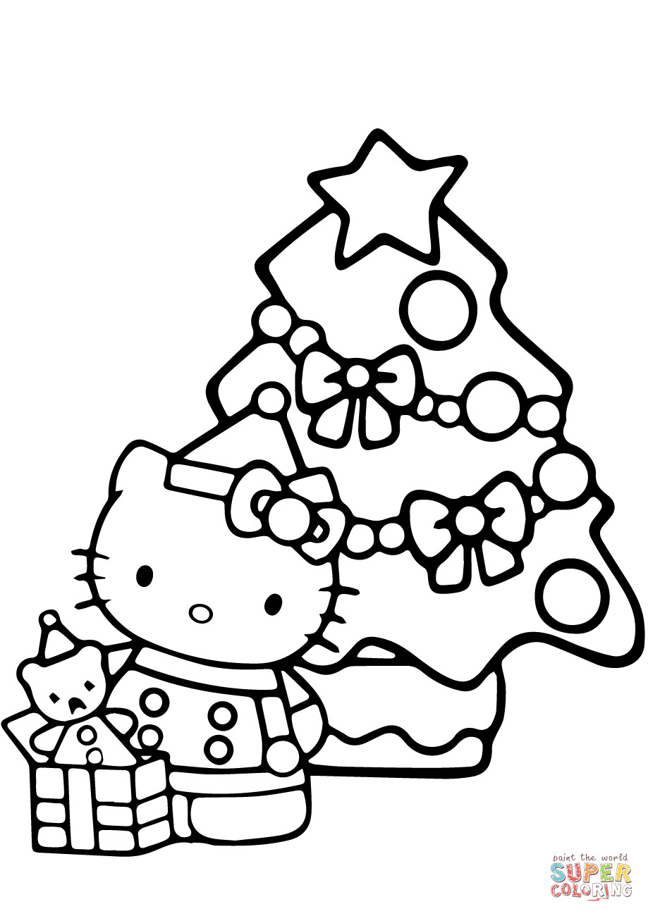 Best ideas about Free Holiday Printable Coloring Sheets . Save or Pin Hello Kitty Christmas Coloring Pages Free Print The Art Now.