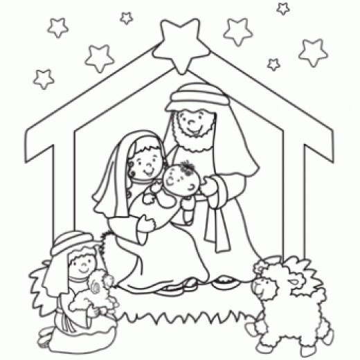 Free Nativity Coloring Pages To Print  Nativity Printables