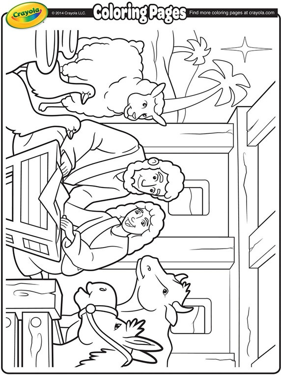 Free Nativity Coloring Pages To Print  Nativity Manger Coloring Page
