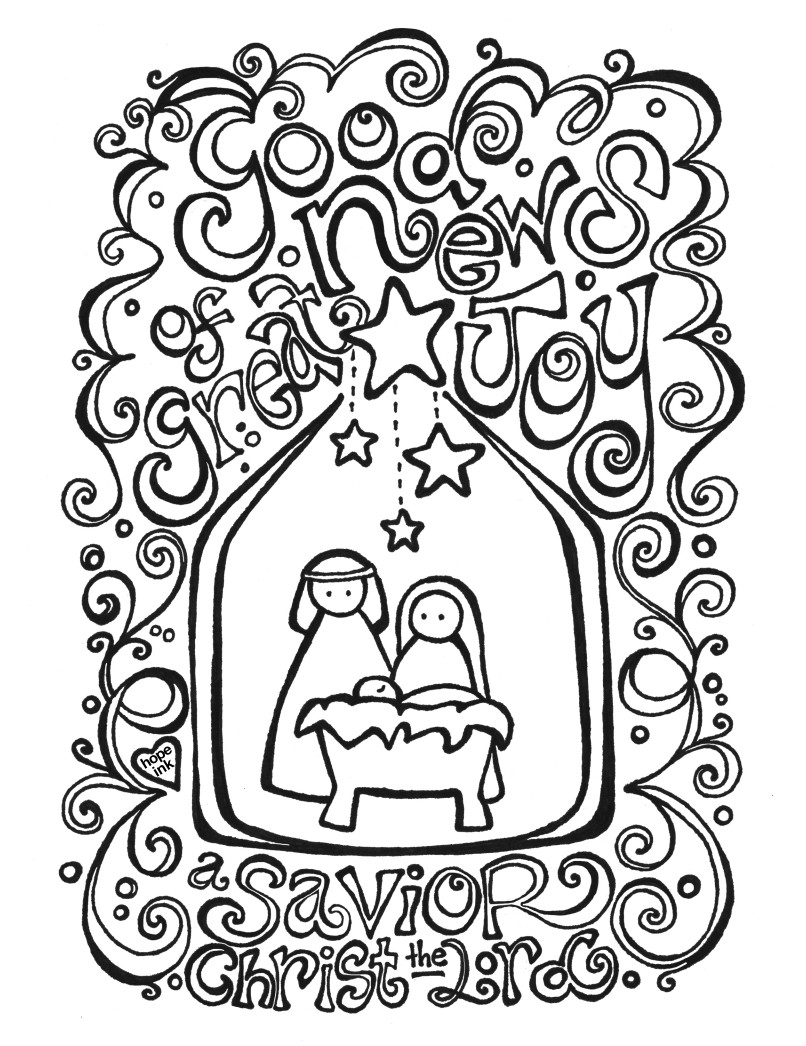 Free Nativity Coloring Pages To Print  Free Nativity Coloring Page Coloring Activity Placemat