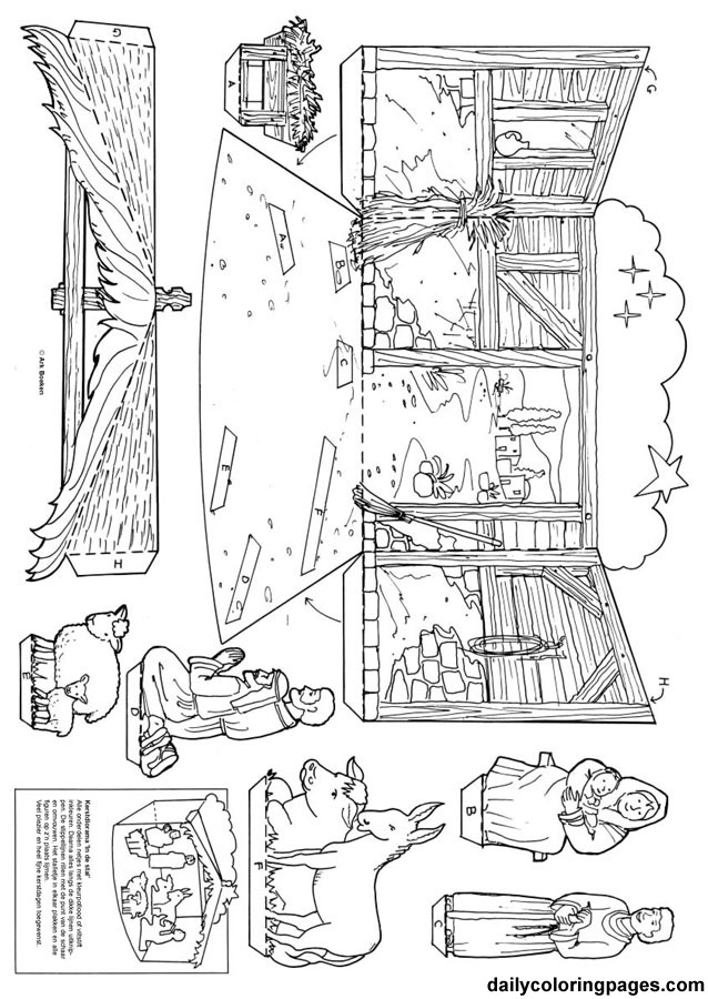 Free Nativity Coloring Pages To Print  Free Nativity Coloring Pages Printable Coloring Home