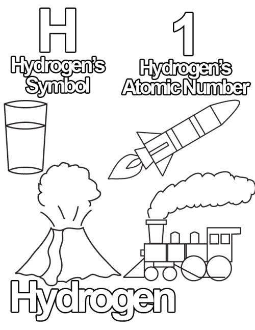 Free Periodic Table Coloring Book For Kids  Free Coloring Pages from The Periodic Table of