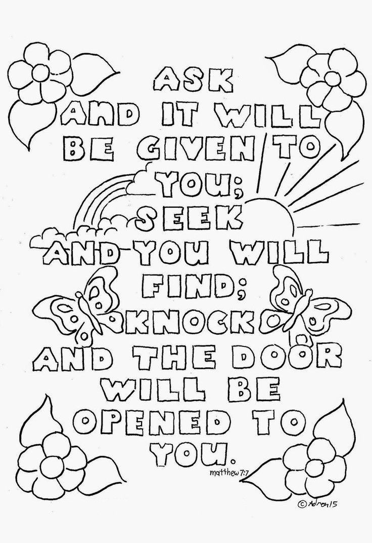 Free Printable Bible Coloring Pages With Scriptures  Top 10 Free Printable Bible Verse Coloring Pages line