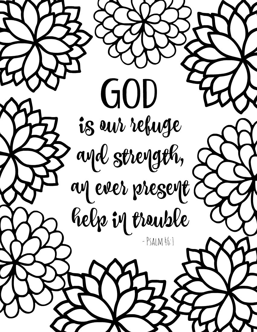Free Printable Bible Coloring Pages With Scriptures  Free Printable Bible Verse Coloring Pages with Bursting