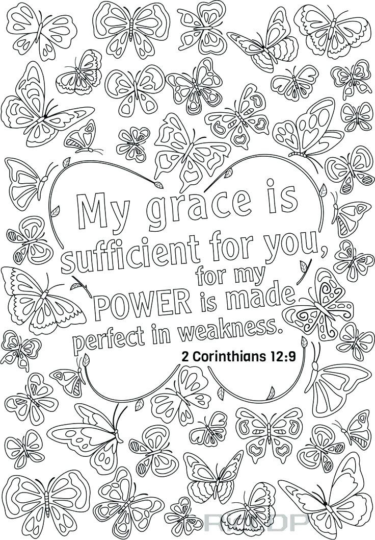 Free Printable Bible Coloring Pages With Scriptures  home improvement Bible verse coloring pages Coloring